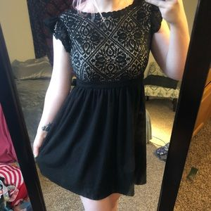 Xhilaration black and cream party dress